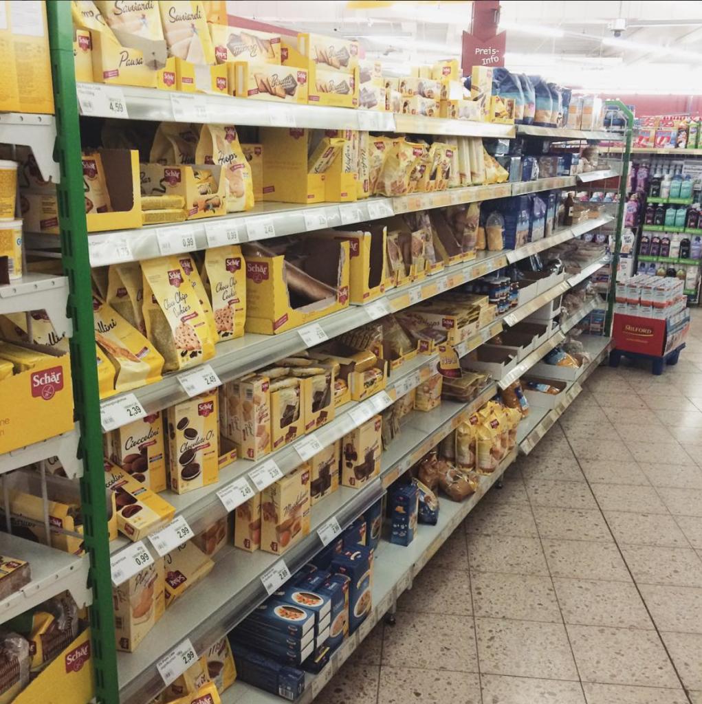glutenvrije boodschappen in Duitsland