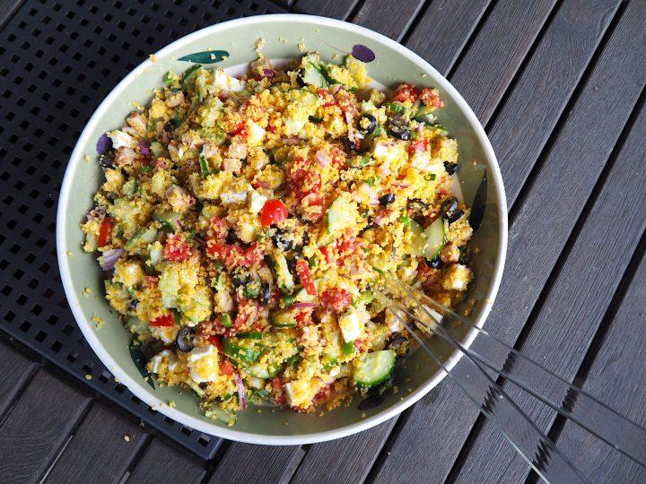 Griekse glutenvrije couscousssalade