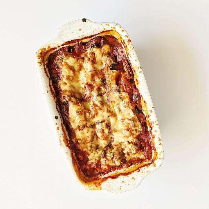 Glutenvrije lasagne met kipgehakt