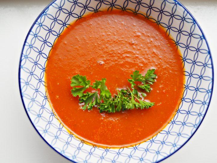 Glutenvrije paprikasoep met tomaat