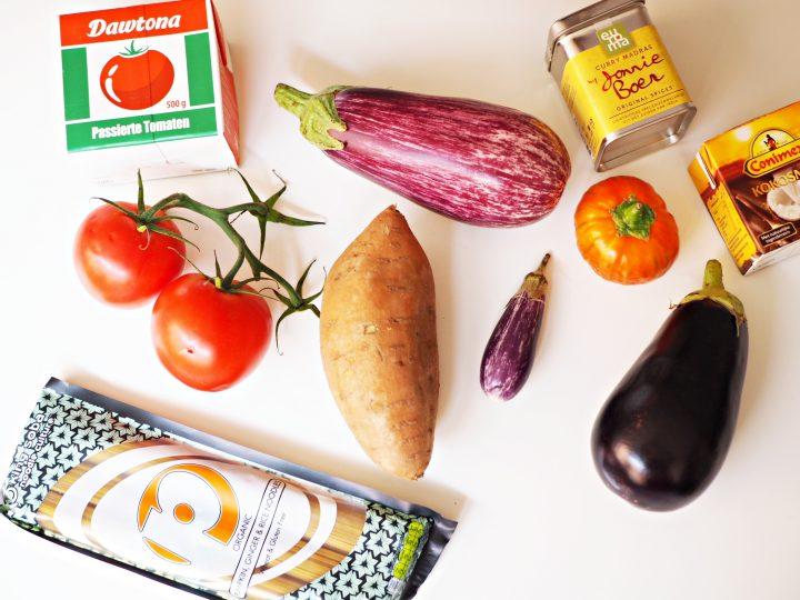 Vegan auberginecurry