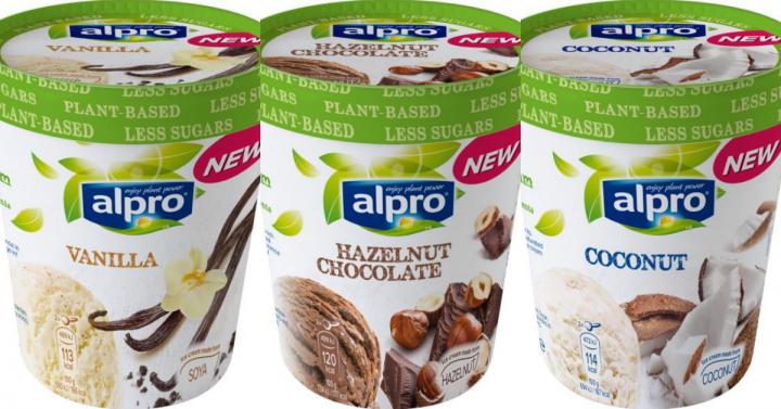 NIEUW: 3 soorten gluten- en lactosevrij Alpro ijs