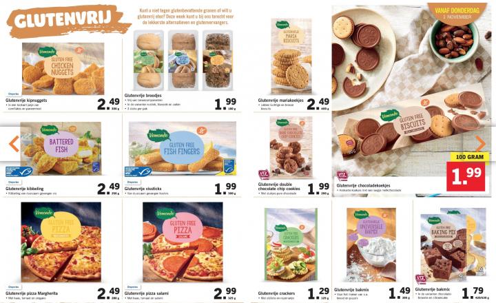 Glutenvrije actieweek bij Lidl: dit scoor je vanaf 1 november 2018