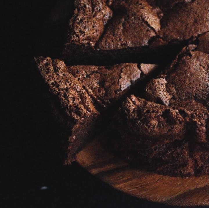 Glutenvrije 'flourless' chocoladetaart naar recept van Bakers & Fakers