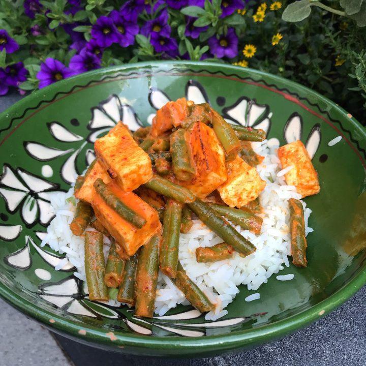 Glutenvrije panang curry met paneer
